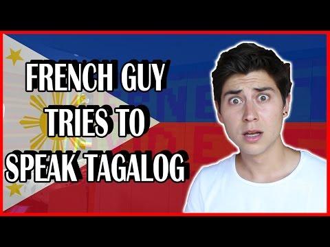 FRENCH GUY TRIES TO SPEAK FILIPINO