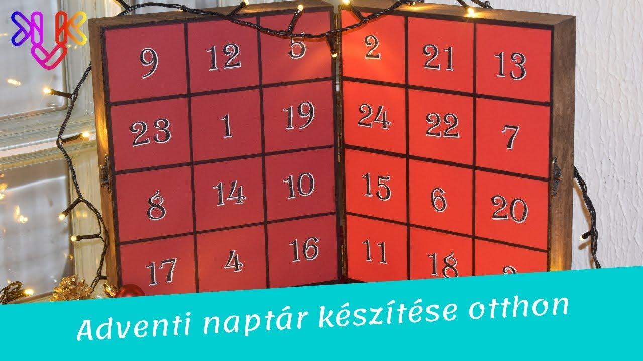 naptár készítés karácsonyra Adventi naptár készítése házilag | Örök adventi kalendárium   YouTube naptár készítés karácsonyra