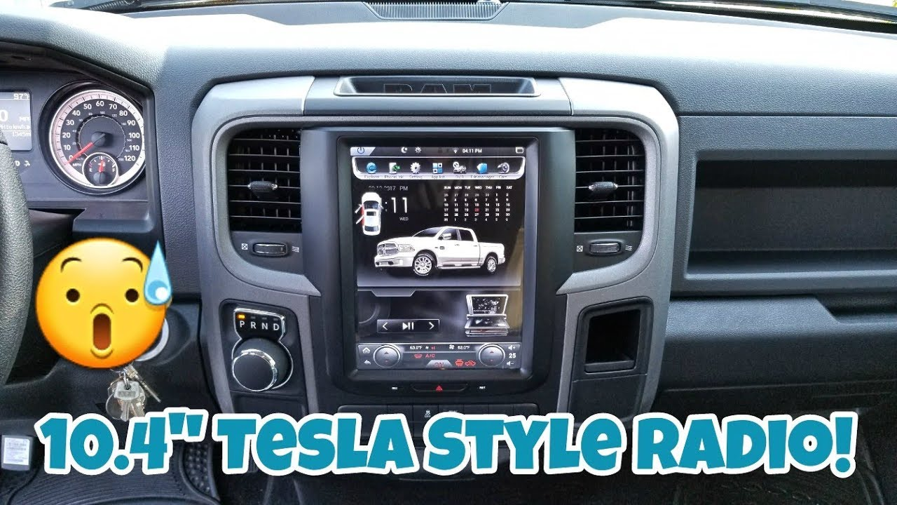 How To Install A Tesla Style Factory Looking Radio 104 W Android Audio Car Stereo Wiring Diagram Dodge Ram 1500 14 17