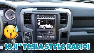 "How To Install a TESLA Style Factory Looking Radio 10.4"" w/ Android! [Ram 1500 14-17]"
