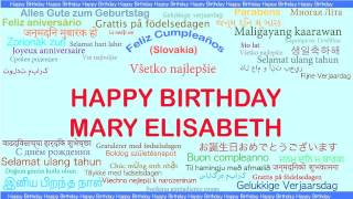MaryElisabeth   Languages Idiomas - Happy Birthday