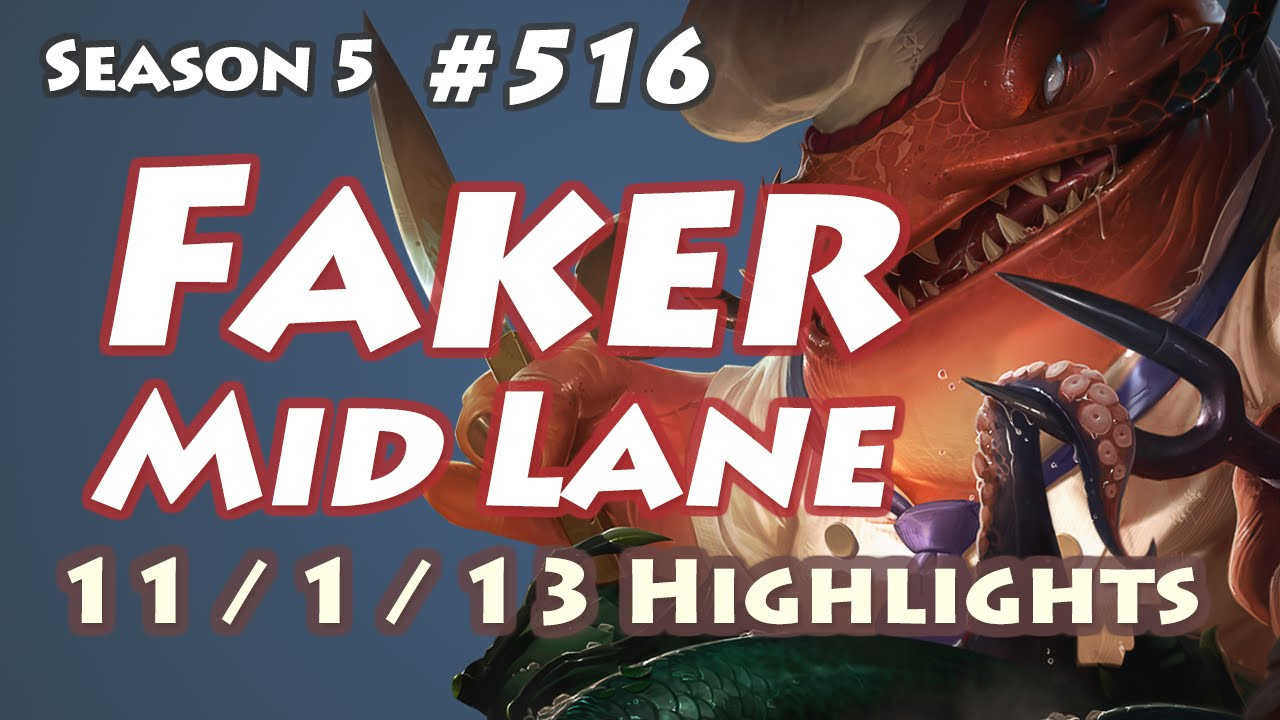 Faker dùng Tahm Kench đường giữa vs Twisted Fate xPeke