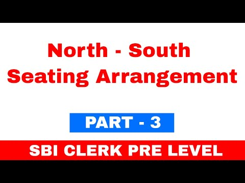 North South Seating Arrangement SBI Clerk Pre 2018 Exam Level Question | Part 3