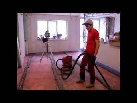 видео: Стяжка по маякам