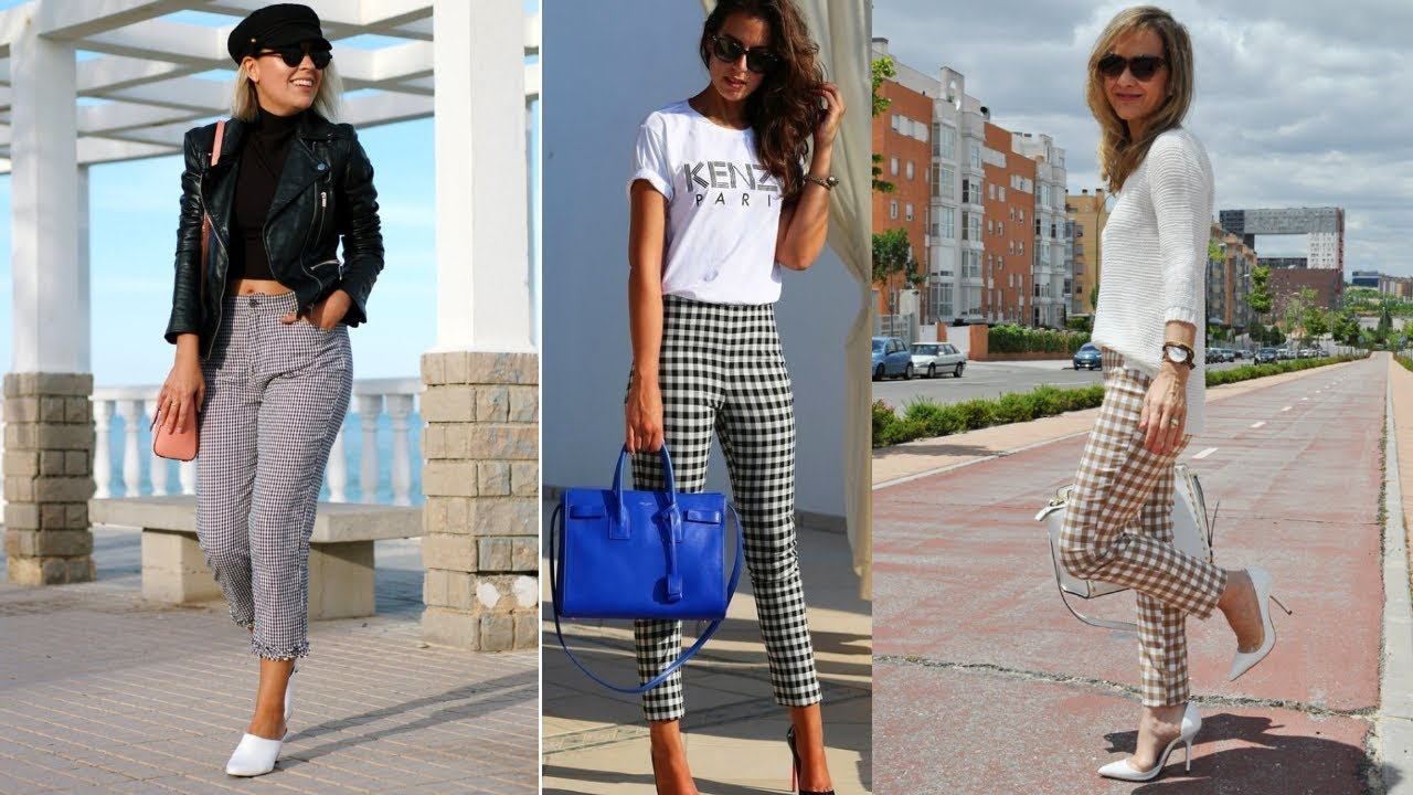 Tendencias Moda Mujer 2020 Pantalones Modernos Pantalon De Cuadros Fashion Love Youtube