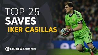 TOP 25 SAVES Iker Casillas in LaLiga Santander