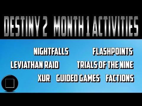 Destiny 2 - Month 1 Activities (SPOILERS)