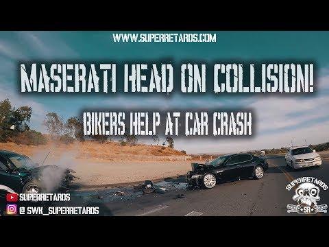 BIKERS CATCH HIT & RUN DRIVER! HEAD ON COLLISION! [Superretards]