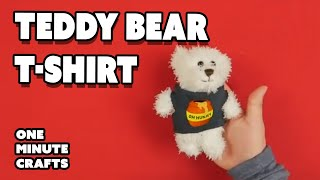 TEDDY BEAR T-SHIRT - One Minute Crafts