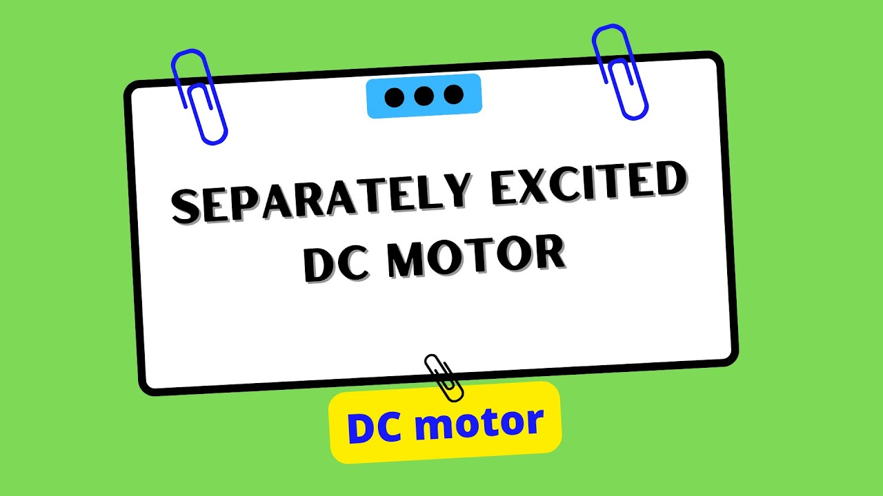 separately excited dc motor pdf