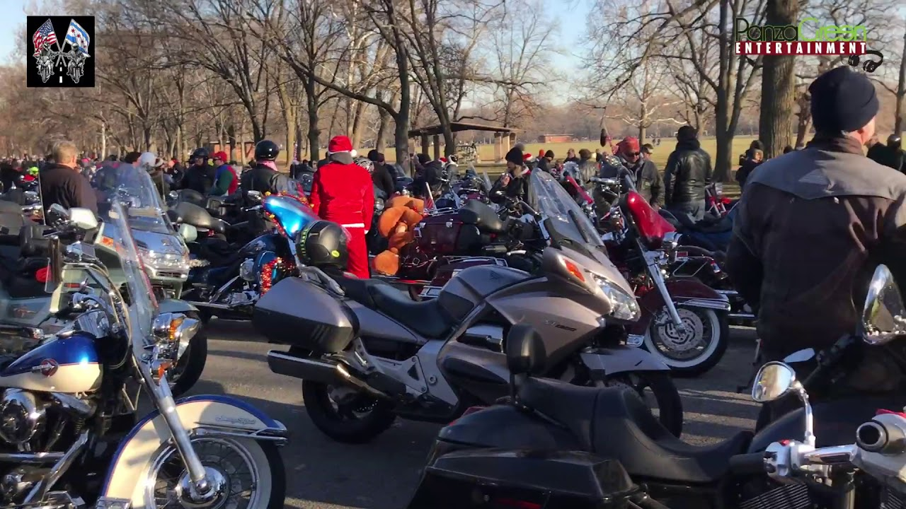 2017 Chicago Toys For Tots : Toys for tots chicago united riders parade youtube