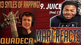 QUADECA IS BLOWING UP!! | 13 Styles of Rapping! (ft. Juice Wrld, Kodak Black, YBN Nahmir) *REACTION*