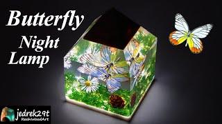 Butterfly DIORAMA. Night Lamp
