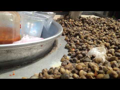 Street food -  clam dry in poi pet city