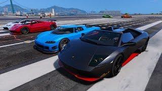 GTA 5 - Siêu bò Lamborghini Murcielago LP650-4 và những cuộc đua siêu xe ngoài sân bay | ND Gaming