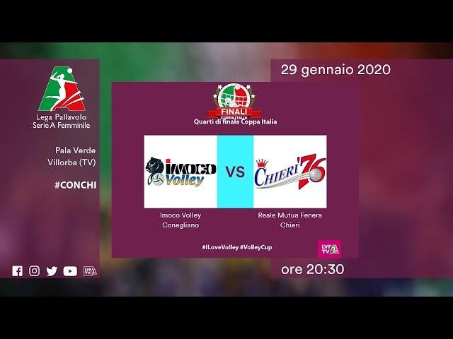 Conegliano - Chieri | Speciale | Quarti di Finale Coppa Italia | Lega Volley Femminile 2019/20
