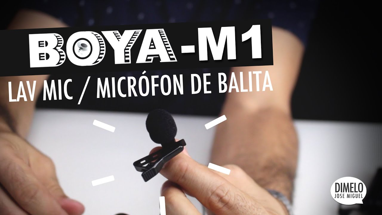 BOYA M1 Lav Mic (Micrófono de Balita) - IMPRESIONANTE - Review en Español