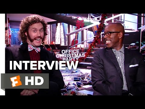 Office Christmas Party Interview - T.J. Miller and Courtney B. Vance (2016) - Comedy