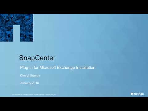 SnapCenter Plug-in For Microsoft Exchange Installation