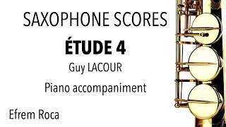 ÉTUDE4 – Guy LACOUR – Piano accompaniment