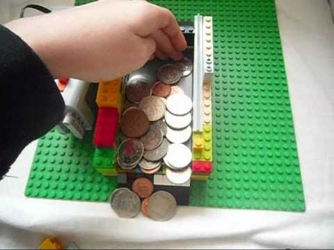 Lego Power Functions Coin Pusher Game Mechanism In Video Youtube