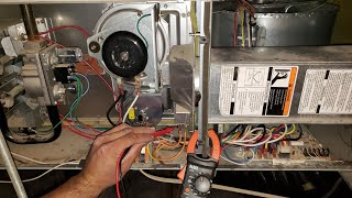 Furnace Troubleshooting Step by Step with Multi Meter.