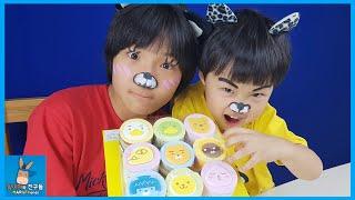 카카오 프렌즈 아이스크림 케이크 먹방! 맛나는 캐릭터는 누구? ♡ 배스킨라빈스 31 네오 라이언 메이크업 분장 Kakao Friends | 말이야와친구들 MariAndFriends