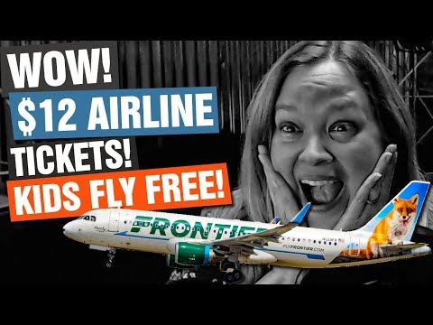 $12 Frontier Airline Tickets! How To Get Six Airline Tickets For $72 FOR REAL! Kids Fly Free!