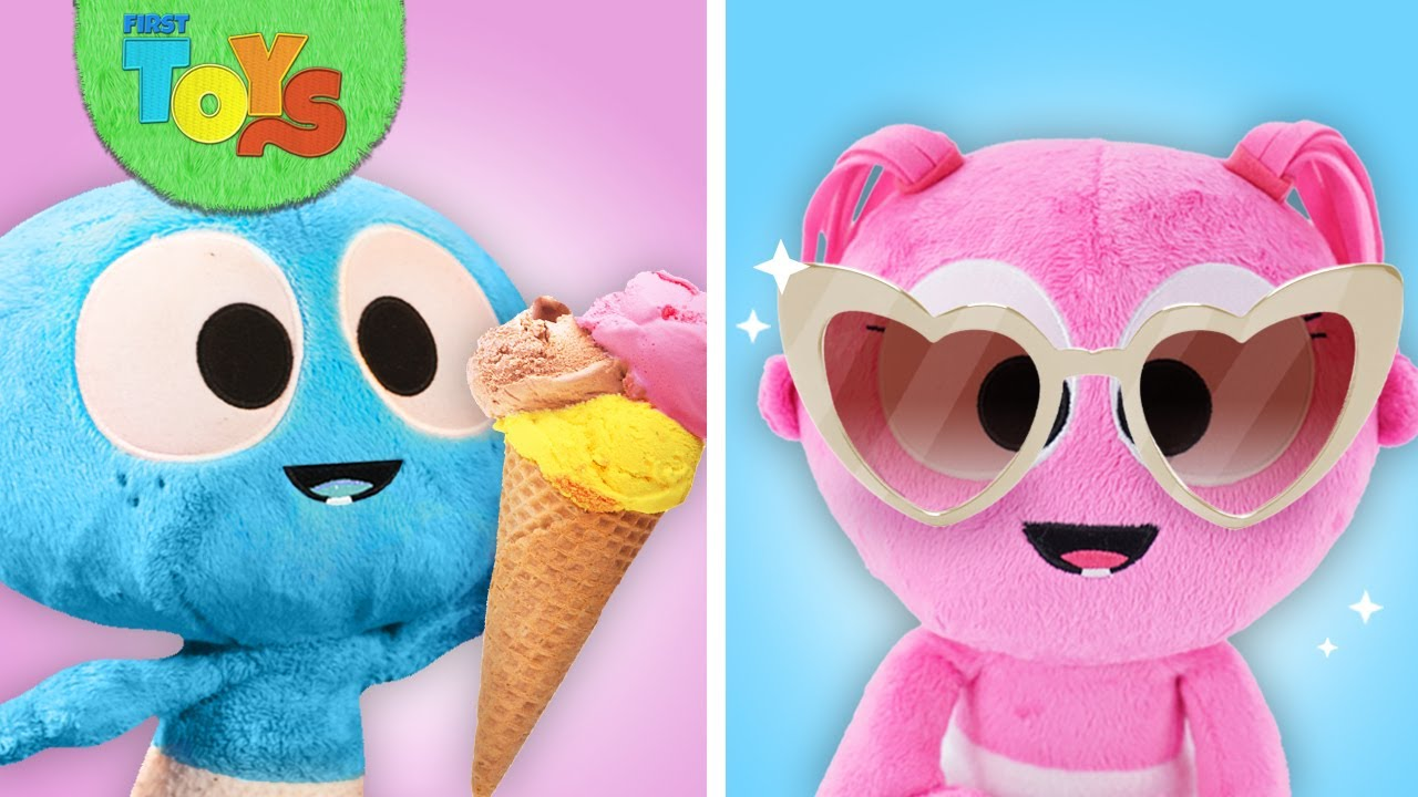 GooGoo & GaaGaa Baby at The Beach | The Glass Wall Jump | Ice Cream Toy Food w Kinetic Sand for Kids