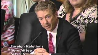 Sen. Rand Paul at Foreign Relations Hearing on the Crisis in Egypt - 7/25/13