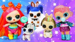 Игры одевалки для девочек - КУКЛЫ ЛОЛ и Питомцы в видео онлайн! - Распаковка LOL кукол.