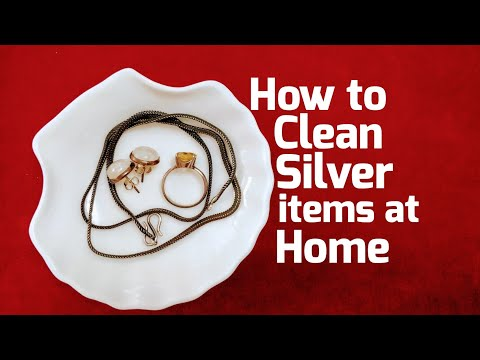 How to Clean Silver items at Home