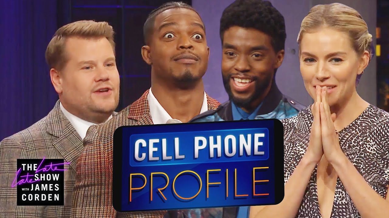 Cell Phone Profile w/ Chadwick Boseman, Sienna Miller & Stephan James