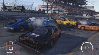 Wreckfest - Speedway 2 Outer Oval Loop Gameplay (Realistic Damages)