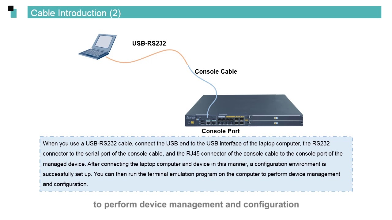 Huawei routers Data Communication Basics - Network Device Management