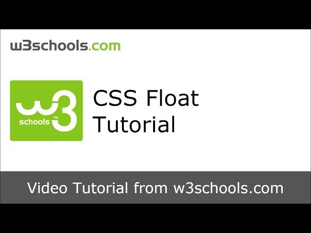 W3Schools CSS Float Tutorial