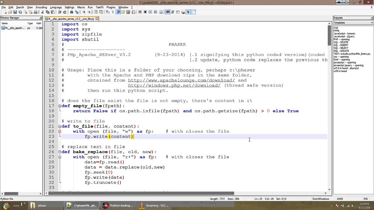 Nice: Using Notepad++ to write Python code (the easy way ...
