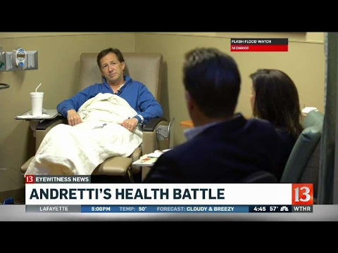 John Andretti shares his battle with colon cancer