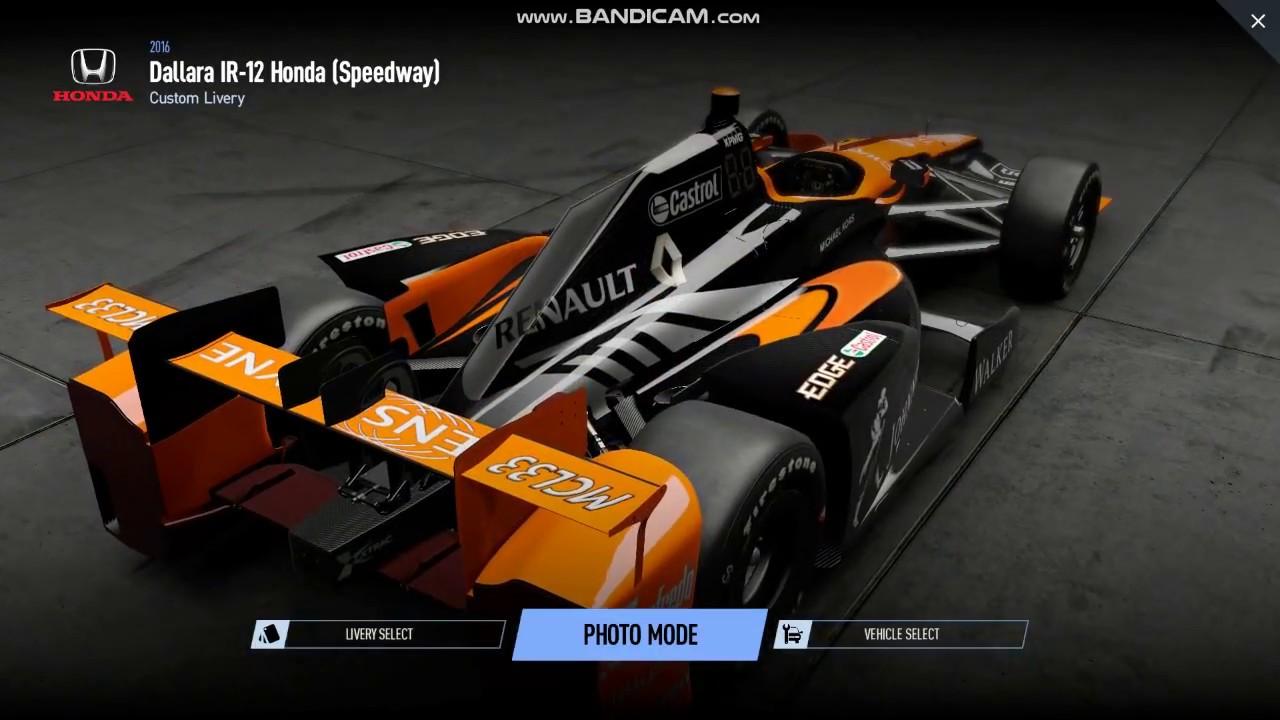 mclaren renault 2018 - project cars 2 mod - indy car chassi honda