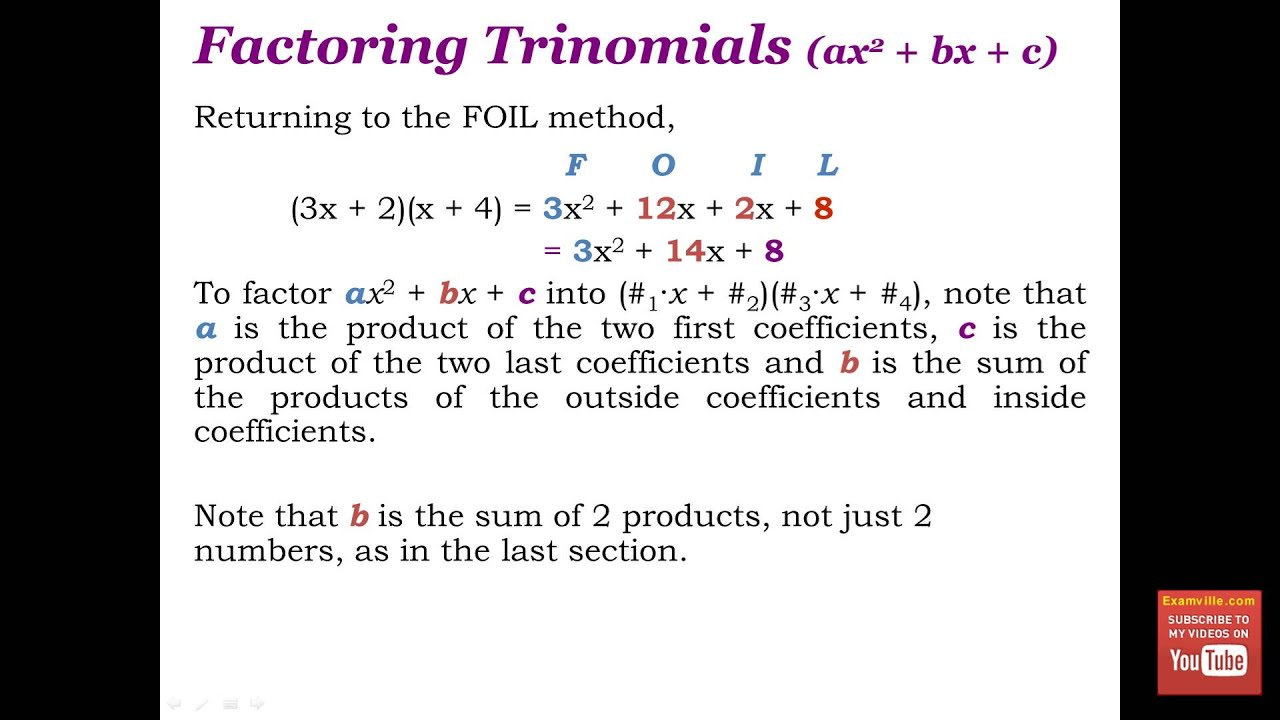 Factoring Polynomials (Quick Math Review) - YouTube
