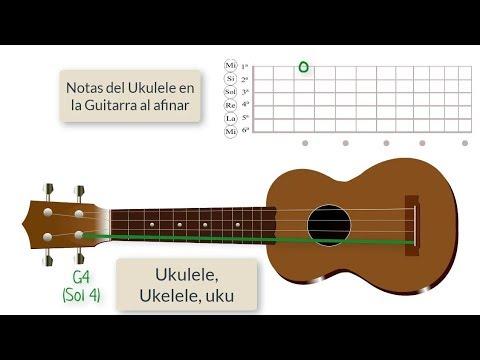 Como afinar las cuerdas del Ukulele Estandar (Soprano)