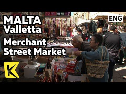 【K】Malta Travel-Valletta[몰타 여행-발레타]머천 스트리트의 벼룩시장/Merchant Street Market/Shopping/Store