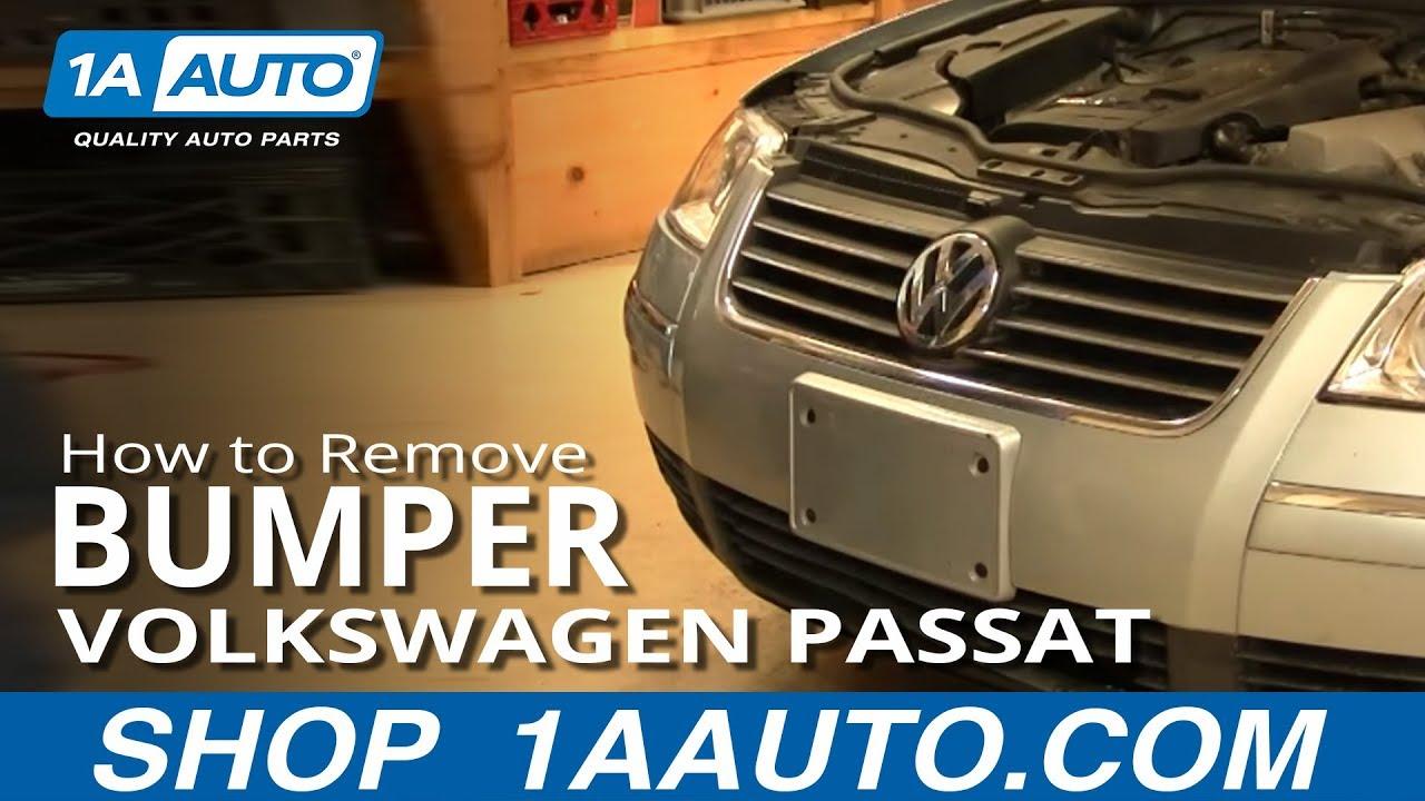 how to remove front bumper 02 05 vw passat [ 1280 x 720 Pixel ]