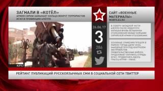 Рейтинг публикаций русскоязычных СМИ в социальной сети Twitter за 26 июня