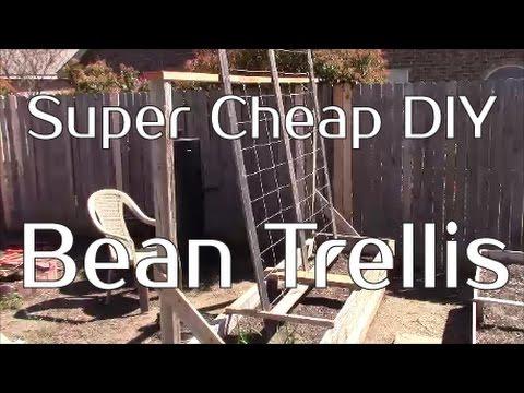 Easy Amp Cheap Diy Bean Trellis For Your Garden Youtube