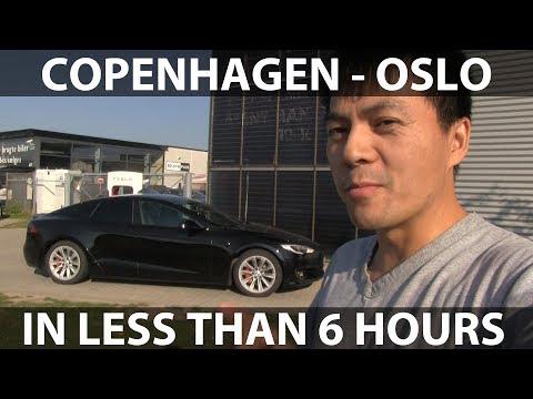 Copenhagen - Oslo challenge in Tesla Model S P100DL