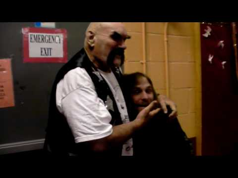 ox baker beats up wwe shawn michaels (a imposter he was)