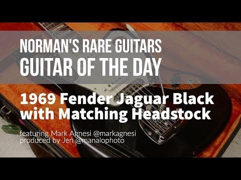 Norman's Rare Guitars - Guitar of the Day: 1969 Fender Jaguar Custom Color Black