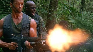 Predator Contact Scene - Shooting Jungle - Predator (1987) Movie Clip HD