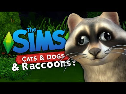 CATS & DOGS & ...RACCOONS? - The Sims 4 Funny Highlights #115
